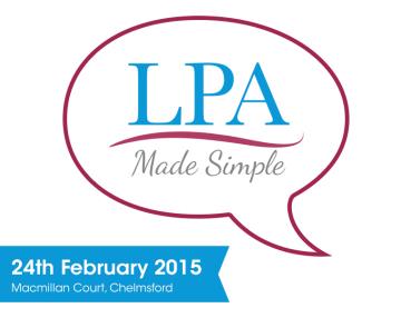 Chelmsford LPA Group Talk – Feb 2015